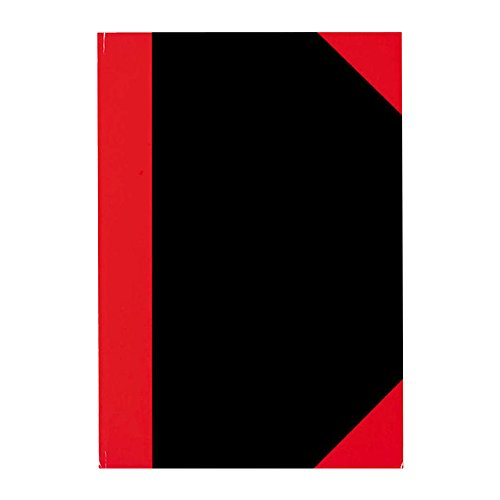 Stylex 29114 Kladde, DIN A4, kariert, schwarz/rot