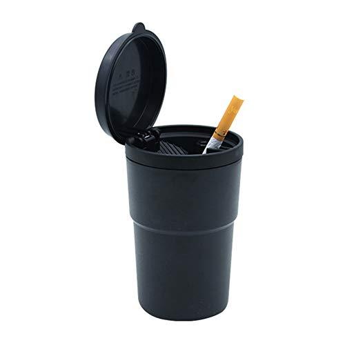 Aschenbecher für Zigarettenrauch, für LKW, Auto, Büro, Zuhause, tragbar, große Kapazität, Auto-Aschenbecher, Zigarettenhalter, Rauchentferner - Schwarz, schwarz (Aschenbecher Für Lkw)