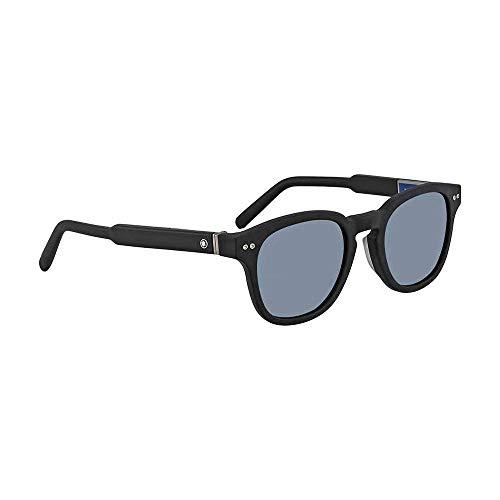 Montblanc Sonnenbrille mit UV Schutz und Blauen Linsen Herren Schwarz