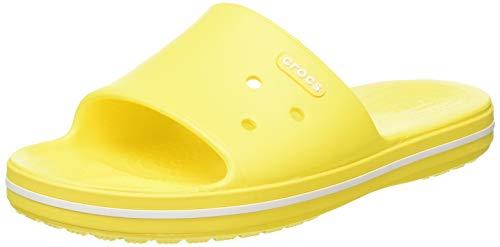 crocs Unisex-Erwachsene Crocband Iii Slide Sandalen, Gelb (Lemon/White 7B0), 39/40 EU