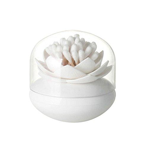 Exquisite Lotus, Halter für Wattestäbchen / Zahnstocher weiß
