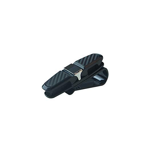 Glas-Halter für Auto-Masken-Sonnenbrille-Halter-Klipp-Aufhänger-Brillen Berg 180 Grad-Rotations Auto Gläser Inhaber mit Ticket-Klipp für Auto-Silber 1PC