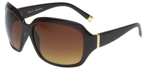 Schöne Marken Sonnenbrille für Damen von Burgmeister mit 100% UV Schutz | Sonnenbrille mit stabiler Polycarbonatfassung, hochwertigem Brillenetui, Brillenbeutel und 2 Jahren Garantie | SBM106-242