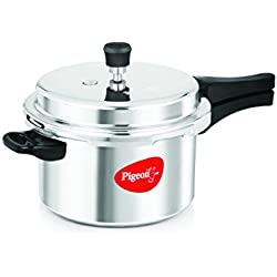 Pigeon Favourite Al Outer Aluminum Pressure Cooker, 5 Litres, Silver