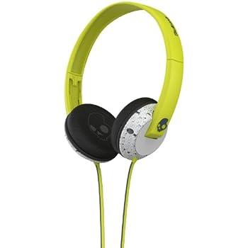 Skullcandy SCS5URGY-415 Uprock Supreme Sound On-Ear Headphone with Mic (Hot Lime/Light Grey)
