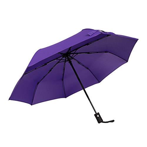 Ofliery Upgraded Mini Travel Sun & Rain Windproof Umbrella - Leichter kompakter, tragbarer Sonnenschirm für den Außenbereich für Männer und Frauen (Color : Purple)