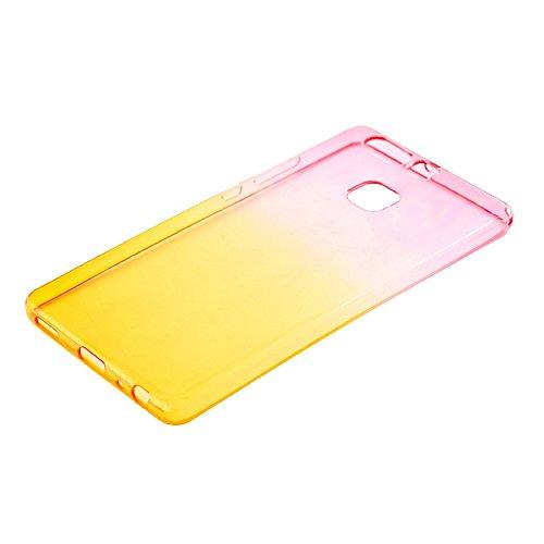 TELLUR TLL118491 Etui en Silicone pour Huawei P9 Lite Rose/Orange