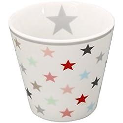 Krasilnikoff Espresso Becher weiß, Sterne bunt