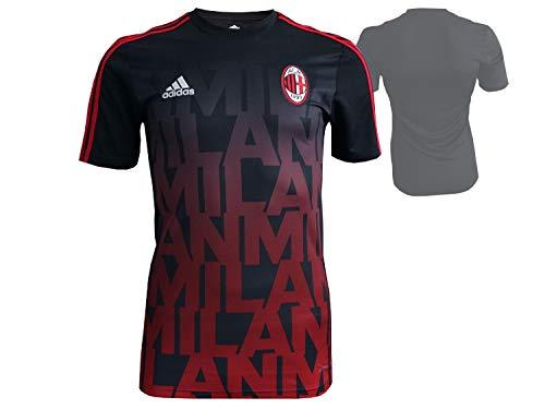 adidas AC Mailand Home Pre Match Shirt schwarz ACM Milan Fußball Trikot Serie A, Größe:S -