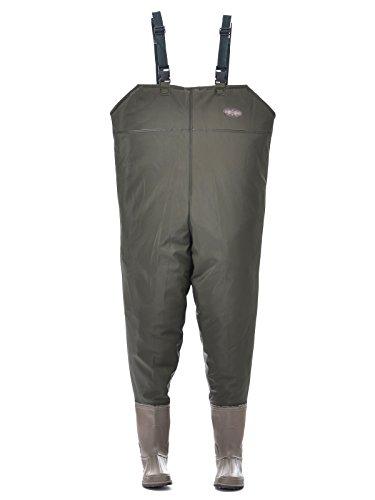 Hisea Neopren Wathosen Anglerhose mit Stiefeln kältebeständig 38-45