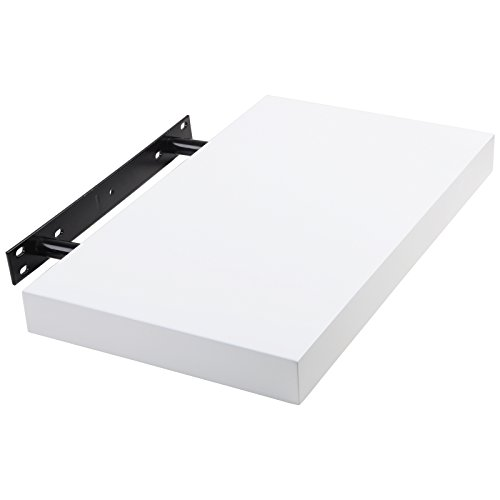 WOLTU RG9247ws Wandboard Wandregal Wandregal Buchregal Hängeregal DVD CD Regal 40cm weiss