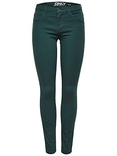 ONLY NOS Damen Hose Onlrain Reg SK New Color Pnt Noos, Grün (Green Gables), W27/L32