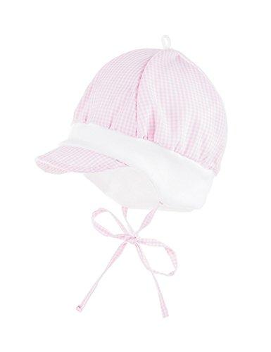 Schildmütze Mütze, Rosa (Mandelblüte-Weiß-Karo Kl. 04), 45 ()