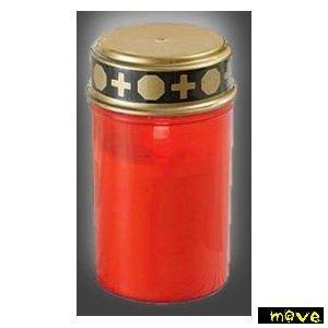 Gold Votiv-kerze (Grablicht LED-Flackerlicht mit Ein- und Ausschalter inkl. Batterien - mit natürlich flackerndem Kerzenschein)