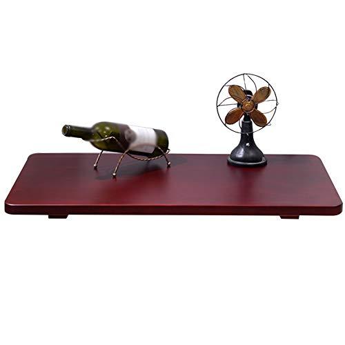 Wandmontierter Drop-Leaf Tisch Küche & Esstisch, Kinder Klapptisch, Rotbraun, Größe Optional (größe : 80x40cm) -
