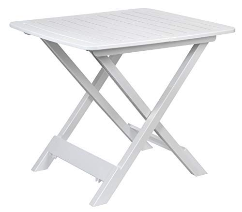 Table de camping Table d'appoint 43x45x50cm blanc pliable Plastique Table pliante