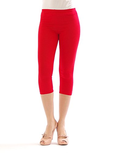 yeset -  Leggings  - Pantaloni - Basic - Donna Rot