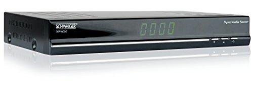 Schwaiger DSR6020011 Digitaler Sat-Receiver, 4-stellige LED-Anzeige, 2xScart, Netzschalter