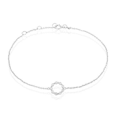 HISTOIRE D'OR - Bracelet Or et Diamant - Femme - Or blanc 375/1000