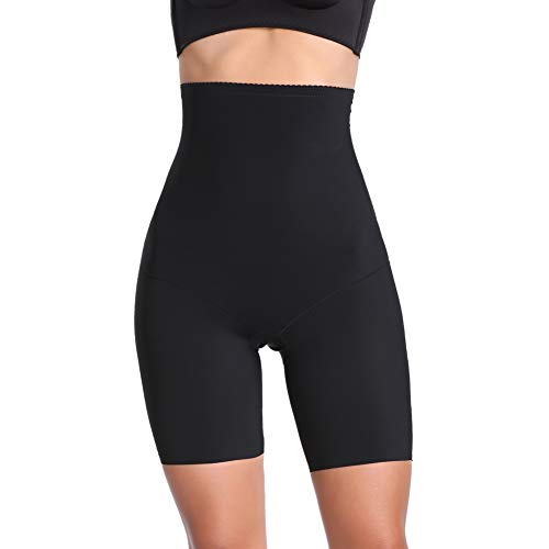 Joyshaper Figurformende Miederhose Nahtlose Miederpants Atmungsaktive Shapewear mit Bein Hohe Taille Perfekt als Unterwäsche, Schwarz, M/DE 38