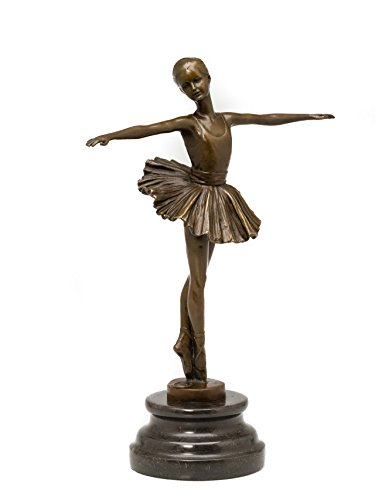 Scultura in bronzo ballerina danzatrice figura in bronzo marmo balletto