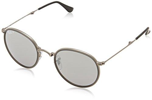 Ray-Ban Unisex Sonnenbrille RB3517, Einfarbig, Grau (Gestell: Gunmetal, Gläser: Polarized Silber Verlauf 029/N8), Small (Herstellergröße: 51)