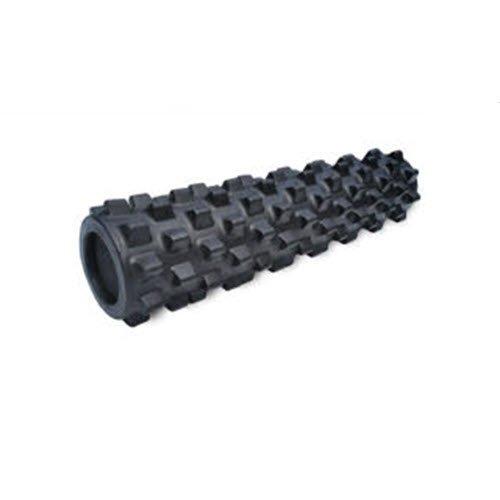 RumbleRoller-Mid Größe 55,9cm-Schwarz-Extra fest-strukturiert Muskel Foam Roller-Bei schmerzendem Muscles- Ihre eigenen Tragbare Masseur-Patentierte Foam Roller Technologie