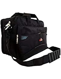 Polyester 16-inch Black Massanger Bag Bagpack Satchel Messenger Bag Office  Bag 0076199a3c