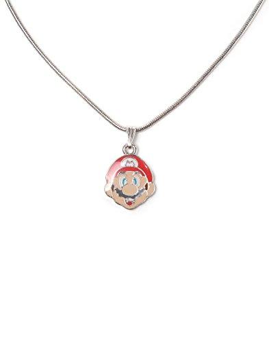 Nintendo - Super Mario Gesicht Metall Halskette mit Anhänger multi Farben - Spielwaren