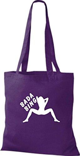 ShirtInStyle Stoffbeutel BADA BING CLUB diverse Farbe purple