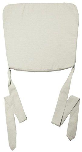 Nicht Zutreffend Stuhlkissen Sitzkissen Sitzpolster MAXIMA | 47 x 43 cm | Creme | Baumwolle | Polyester