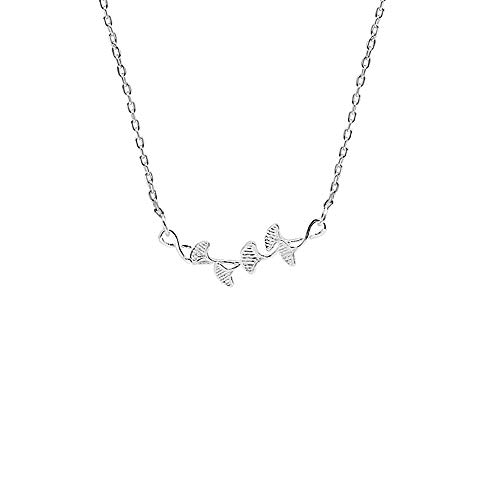 WL Schmuck Set Ginkgo Biloba S925 Sterling Silber Halskette Kurze Schlüsselbein Kette Weiblichen Literarischen Wilden Schmuck