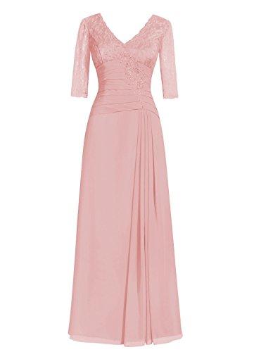 Dresstells, A-ligne robe longue de mère de mariée, robe de soirée formelle, robe de demoiselle d'honneur Blush