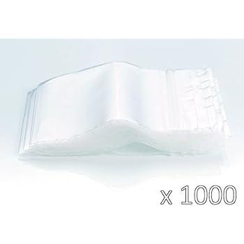 Bolsas de plastico con cierre zip - 130mm x 200mm - 1000 piezas(10x100) - 50 micras - Apta para el contacto alimentario