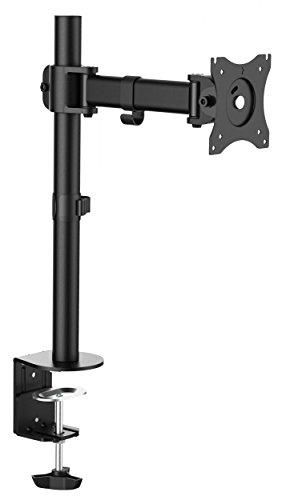 RICOO Soporte para monitor PC TS5611 pantalla plana LED TFT brazo orientable inclinable soporte de mesa estante de monitor montante de monitor para mesa giratorio brazo para monitor VESA 100x100