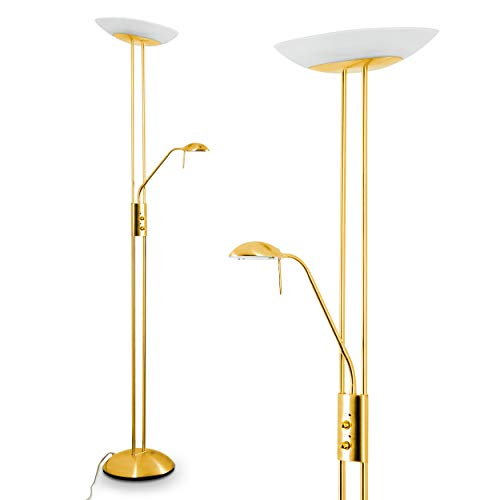 Led Floor Lamp Lucca Flood Light And Reading Light With Pivot Arm Integrated Dimmer With