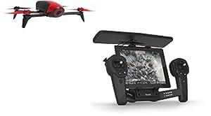 Parrot - Pack Drone Quadricoptère Bebop 2 + Skycontroller - Rouge/Noir