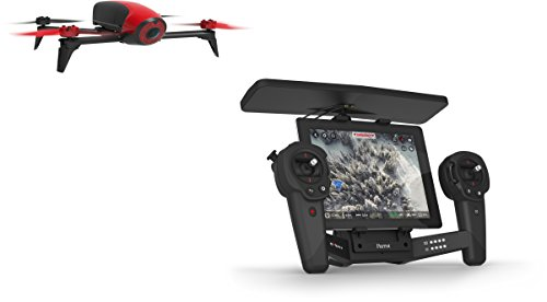 Parrot Bebop 2 Drone with 180 Fish Eye Camera, Live Video Streaming, Built-In GPS and Skycontroller - Red/Black