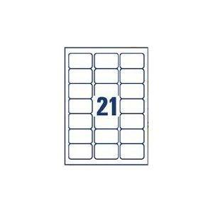 Hochwertige, bedruckbare Klebe-Etiketten/labels, 21 Etiketten pro Blatt, 100 Blatt in Box, Avery Code L7160, J8160 oder