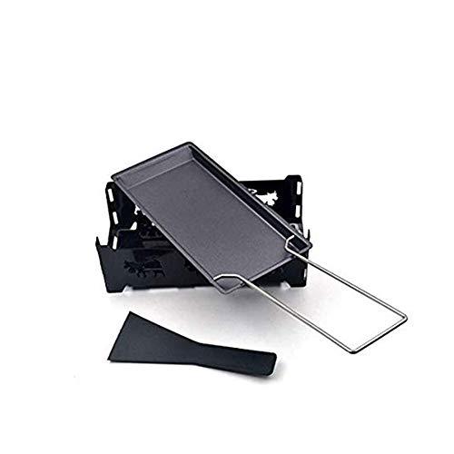 Ruiting Käse Pan Eisen Non Stick Raclette Grill Rack-Käse Schmelzen Pan Candlelight Beheizte Grill Zubehör