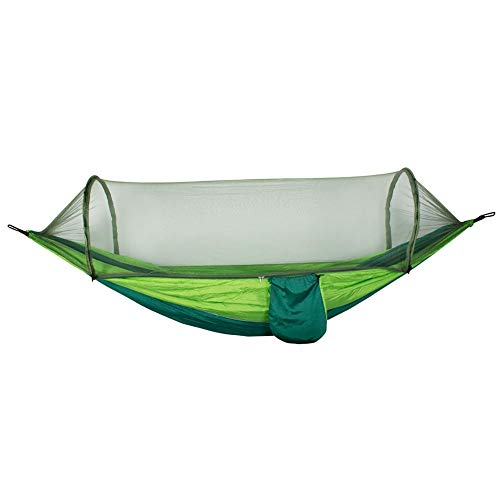 Gowind6 Tragbare Hängematte mit Moskitonetz Camping, Ultraleicht, tragbar, Winddicht, Anti-Moskito, Schaukel Schlaf-Hängematte Bett mit Netz für Outdoor, Wandern, Rucksackreisen, Reisen (Outdoor-hängematte-schaukel-bett)