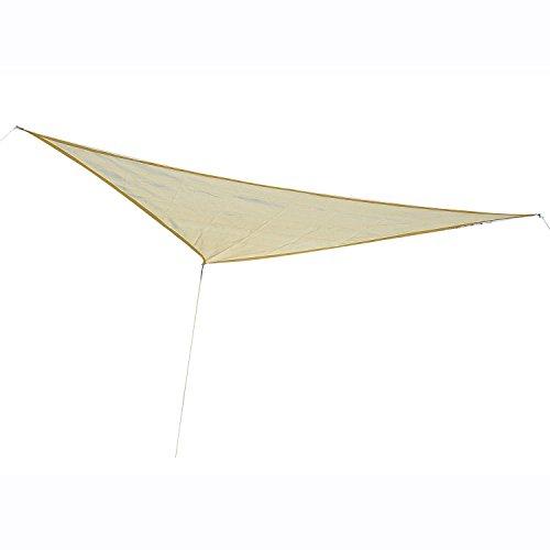 Outsunny tenda tendone parasole triangolare tenda a vela (colore: bianco avorio, dimensione: 3x3x3m)