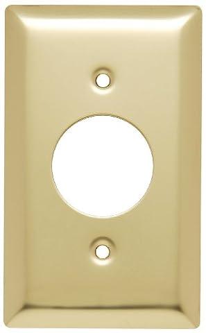Pass & Seymour SB7PB Wall Plate Smooth Polished Brass Single Gang Single Receptacle