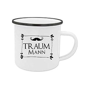 Emaille-Tasse für den Traummann