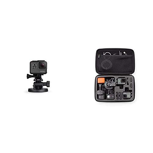 GoPro - SUMQ - Fixation Ventouse avec Quick Release Noir & AmazonBasics Étui de Transport pour GoPro TailleL