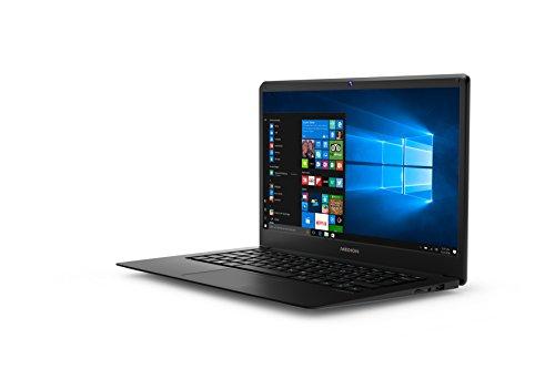 Medion- MD 60996 - Ordenador portátil 14' FullHD (Intel Atom x5-Z83500, 4GB de RAM, 64GB de almacenamiento eMMC, IntelHD Graphics, Windows Home 10) plateado. Teclado QWERTY español