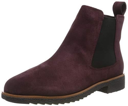 Clarks Damen Griffin Plaza Chelsea Boots, Braun (Burgundy Suede), 39 EU