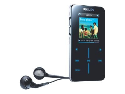Philips SA 9100 Tragbarer MP3-Player 1 GB schwarz (Philips Gogear Mp3-player)