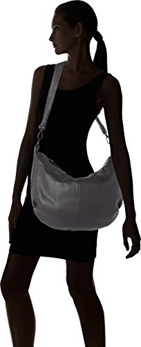 Think! Damen Bag Schultertasche, 9x32x42 cm Grau (Quarz 16)