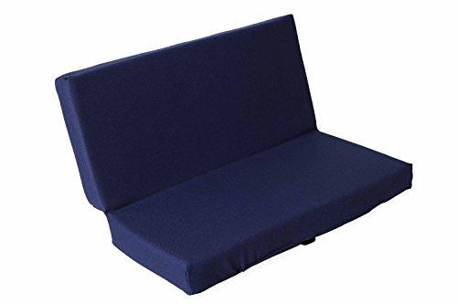 sitzZ uni Sitzkissen Blau, faltbar, klappbar, Thermokissen, Stadionkissen, Bodenkissen, für Kinder, Erwachsene, Senioren, zum Ausflug, Camping, Wandern, Outdoor, dick gepolstert, robust. 33x29,5x3,3cm (Sport-viewing-zelt)